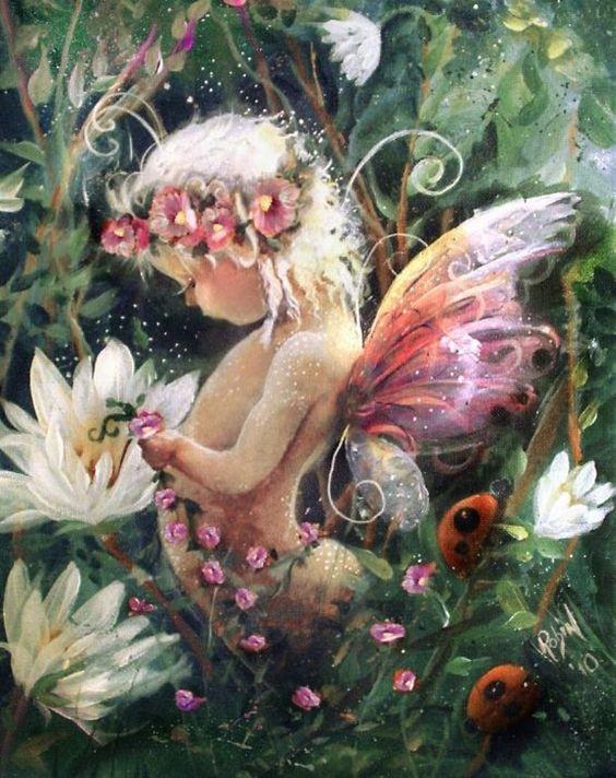 Little Fairy in the Garden