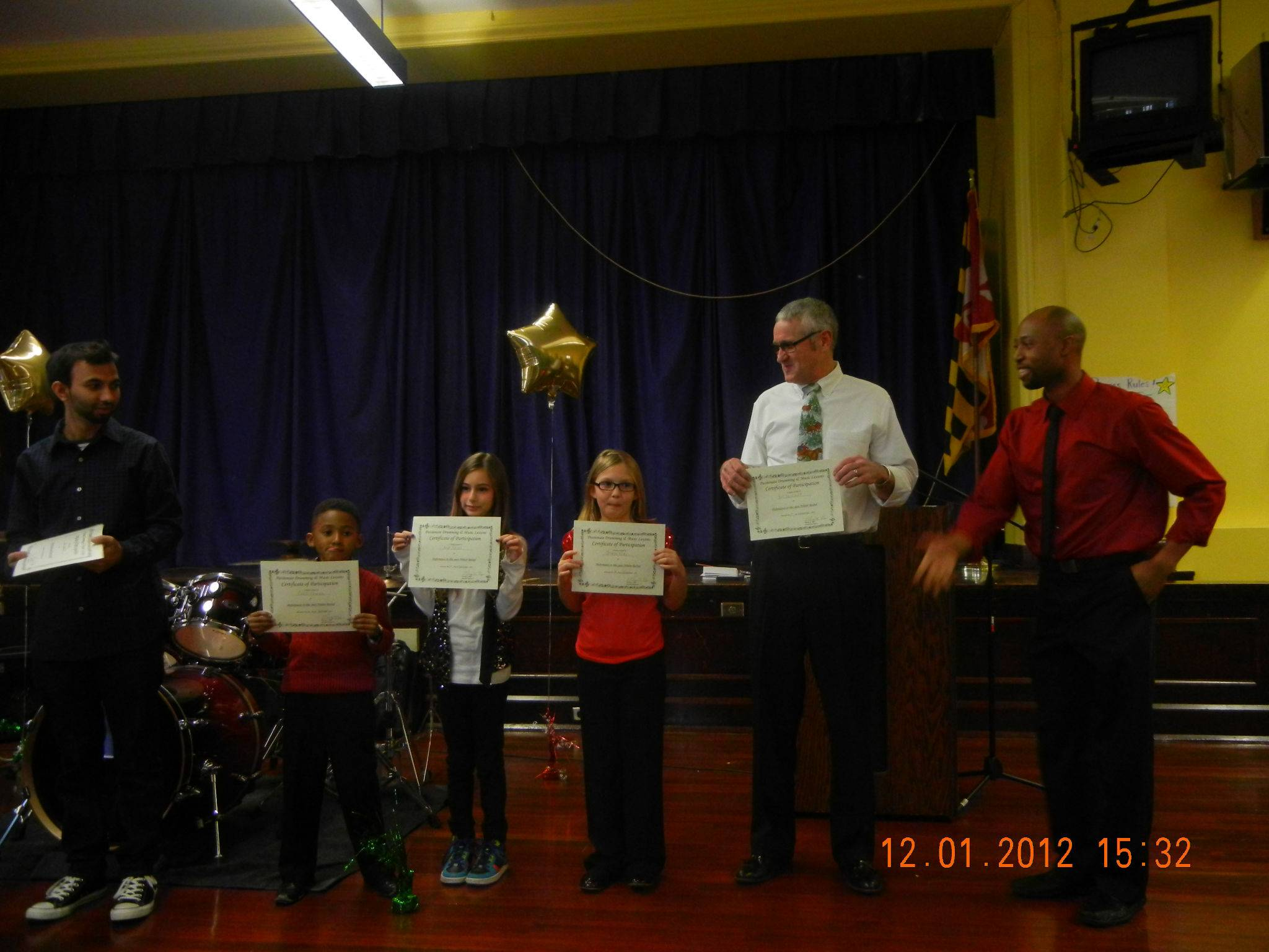 They all received performance certificates!