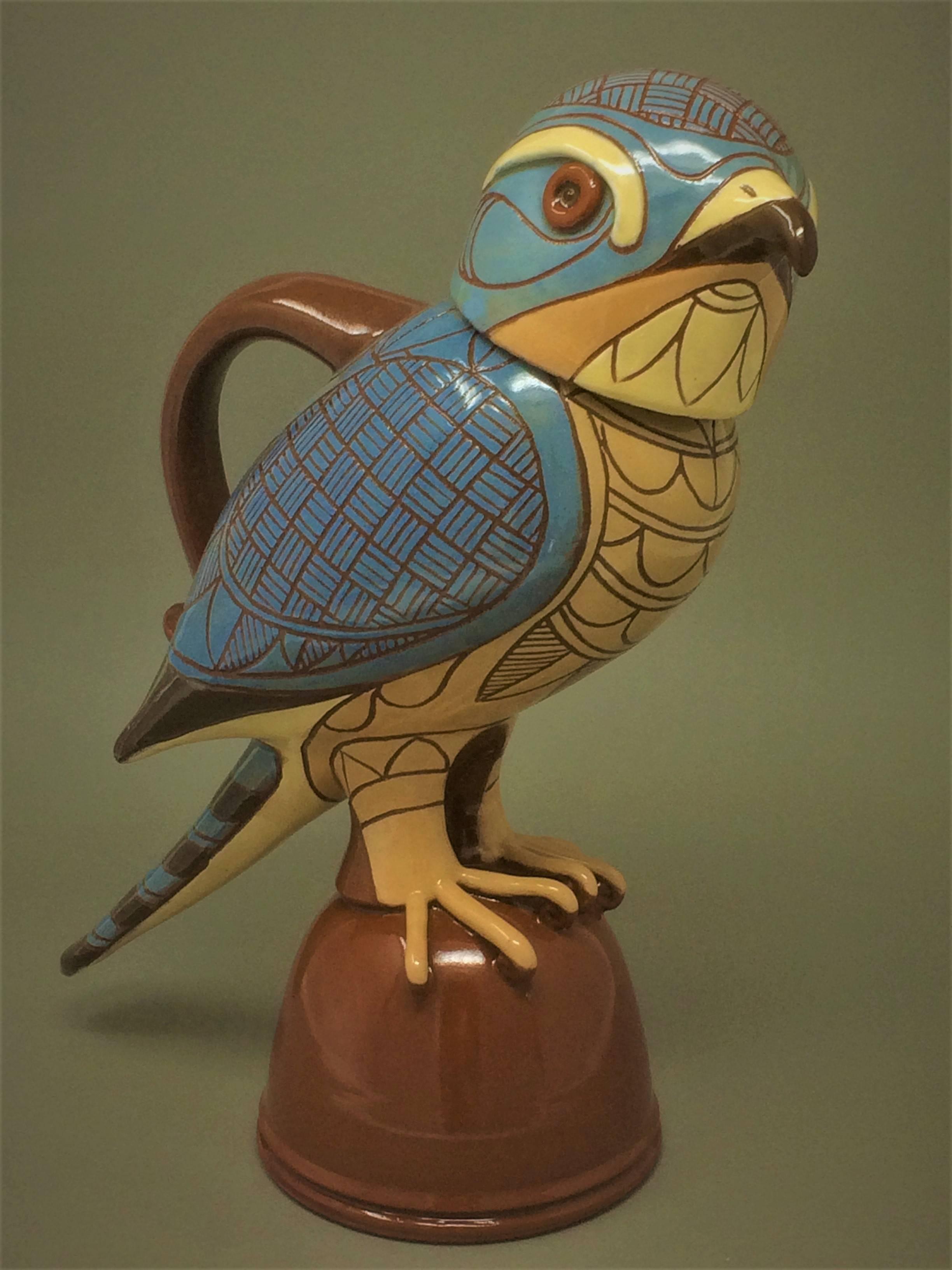 "Sparrowhawk jug 13"" tall"