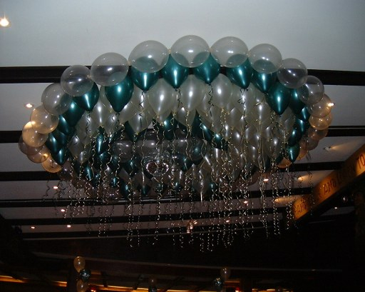 Ceiling Pearl Helium Filled Balloon Decor