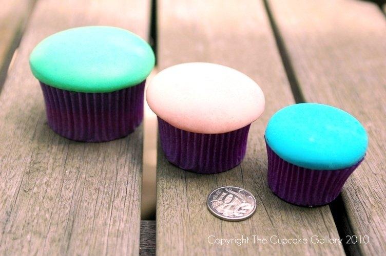 Cupcake sizes