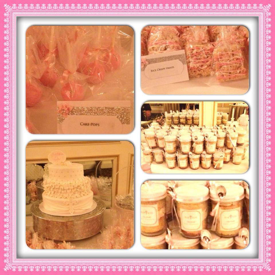 Baptism Candy Table for a Girl