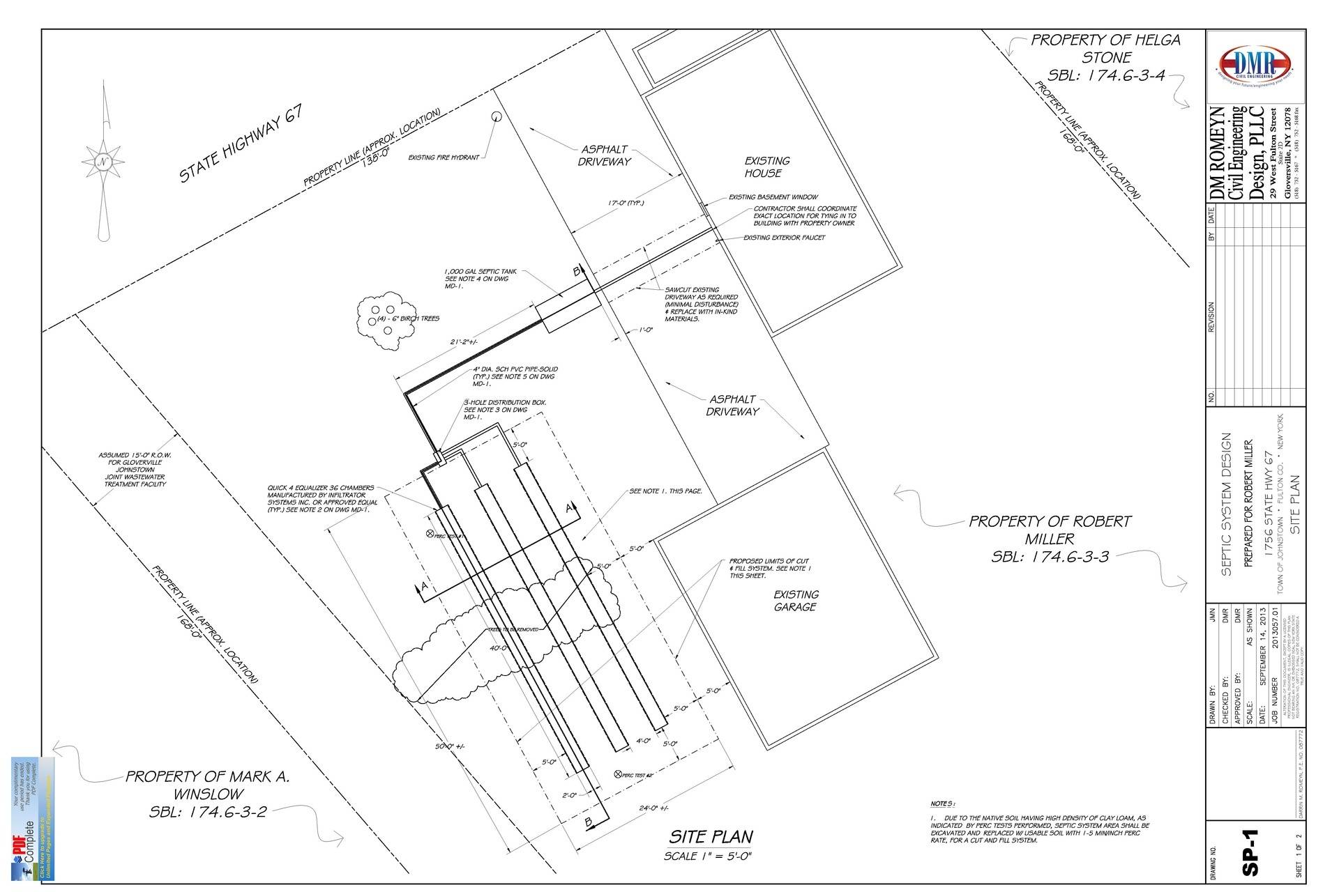 Septic Site Plan