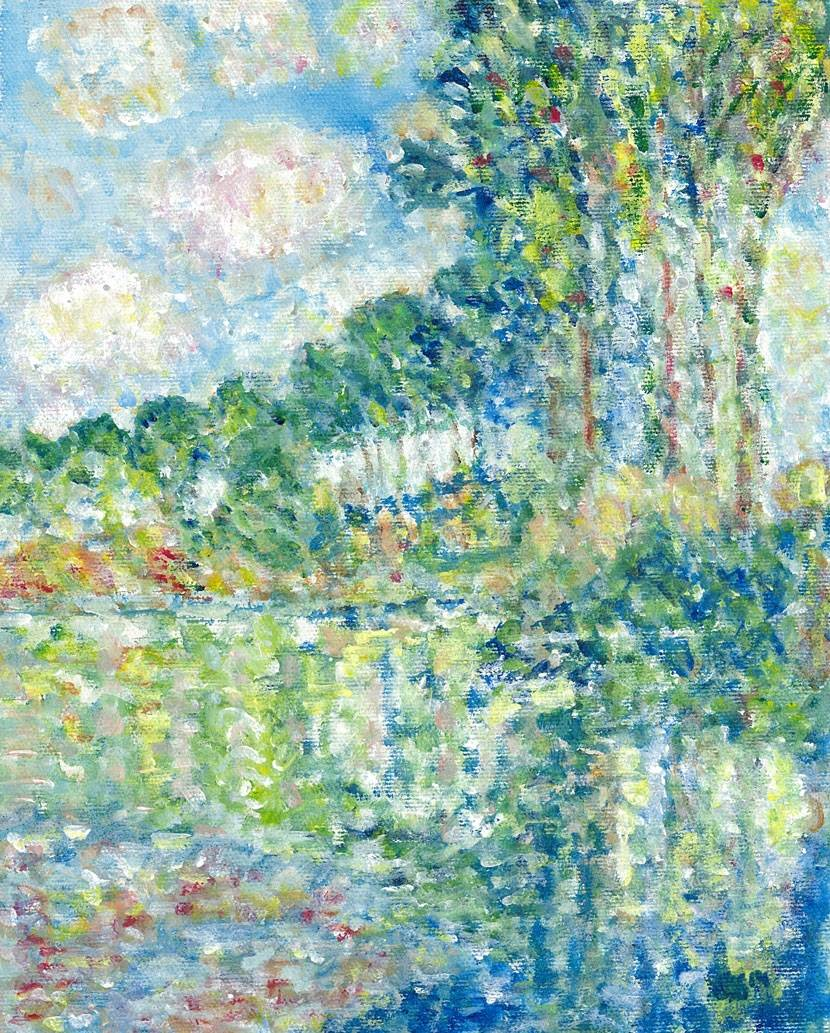 Interpretation of Poplars at the Epte