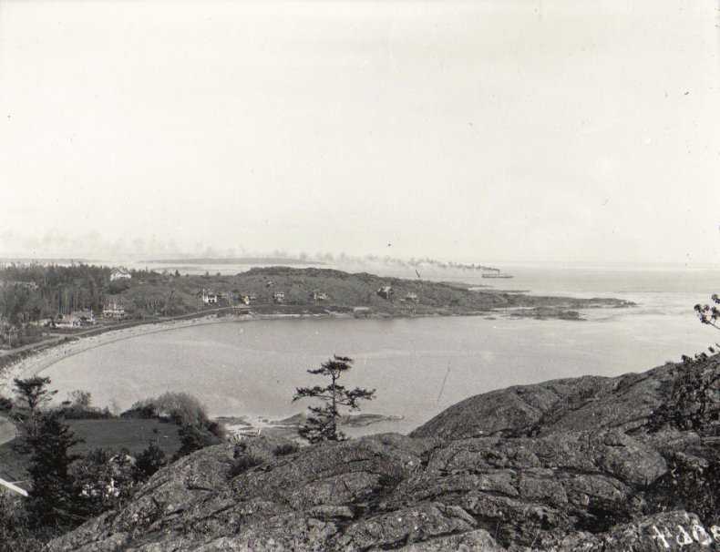 Discovery Island from Gonzales Hill in the 1920's.