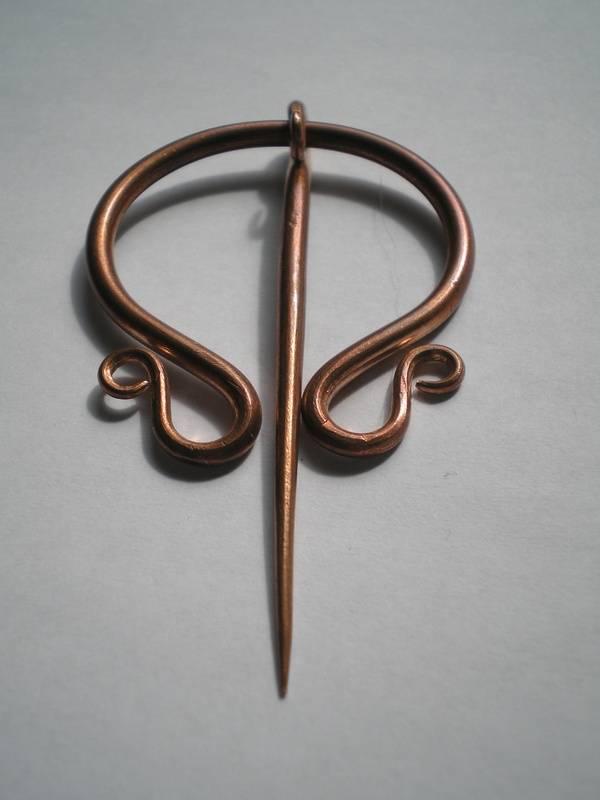 Copper Penannular broach
