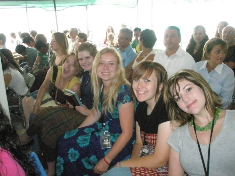 Phase 3 girls at church