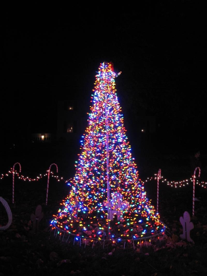 Multicolored LED Christmas Tree