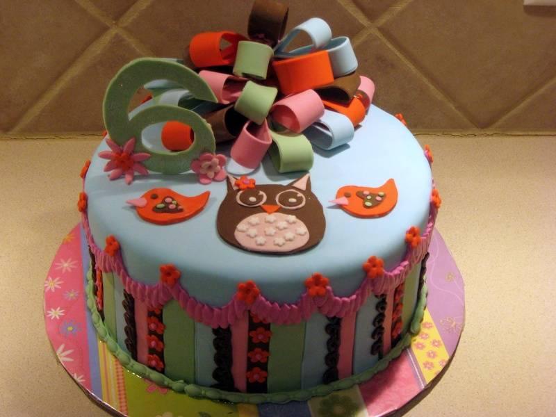 Owl cake MTM Hippie Chick Cake