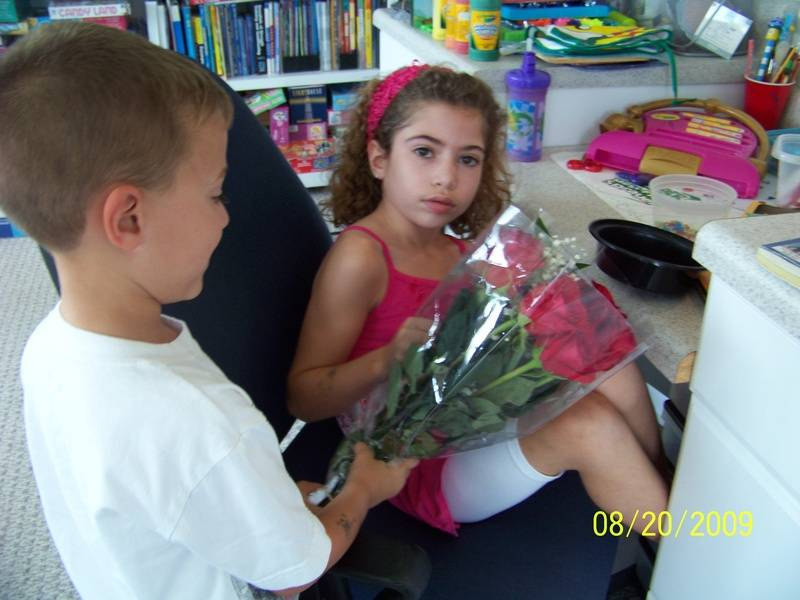 Haley gets flowers