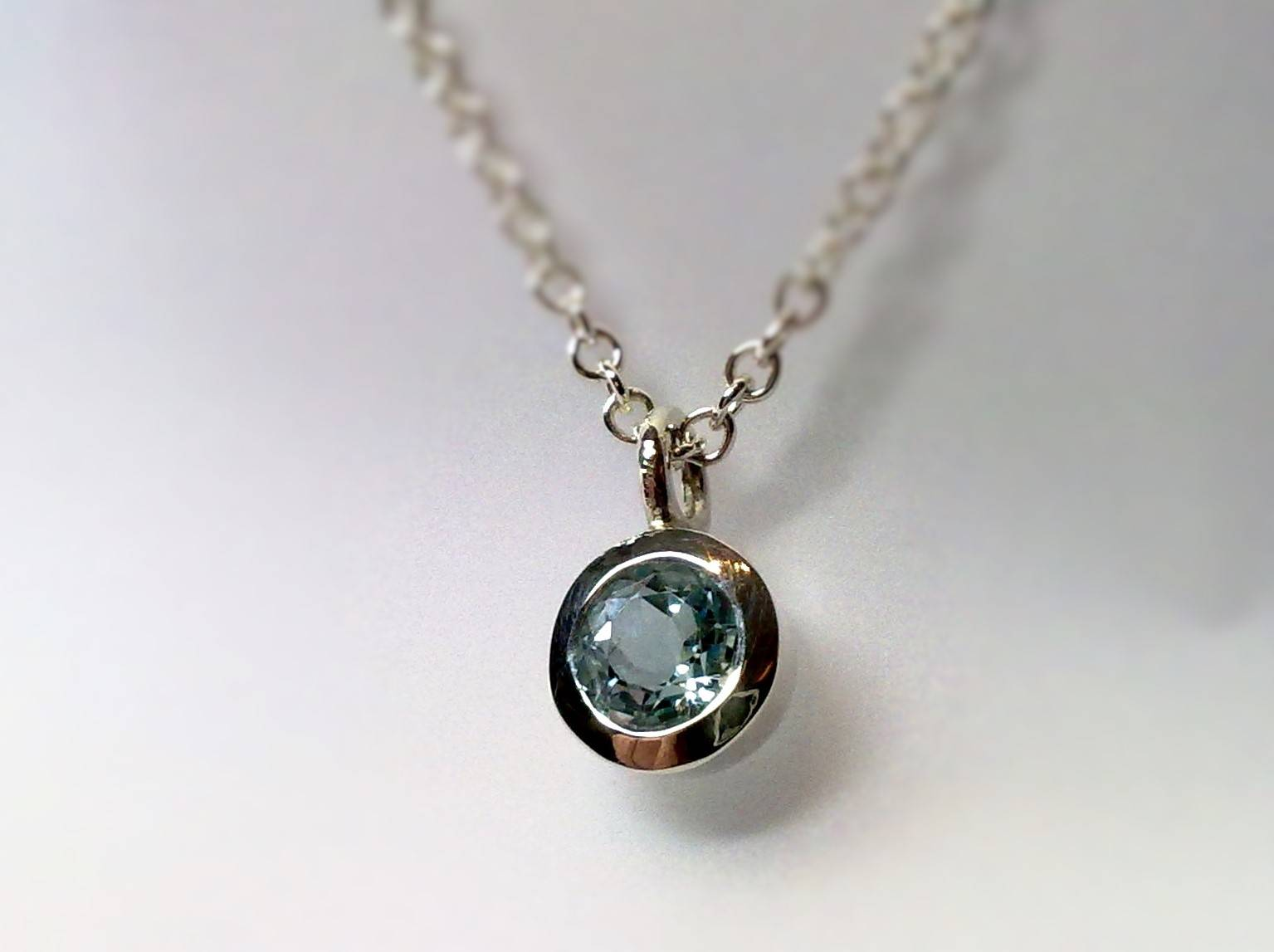 Topaz and silver pendant