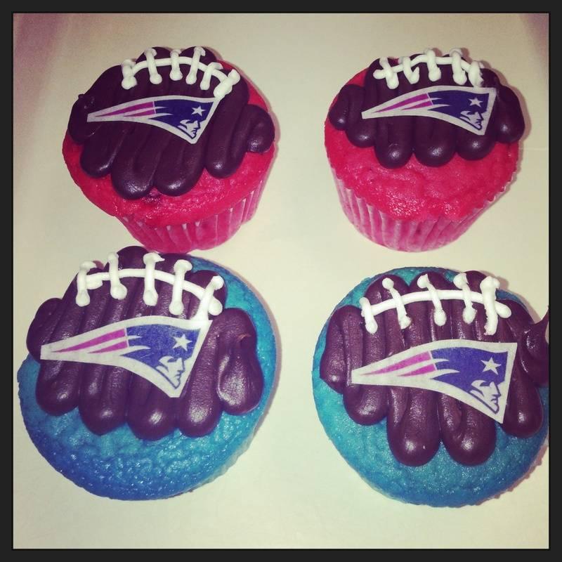 Patriots Football Cupcakes