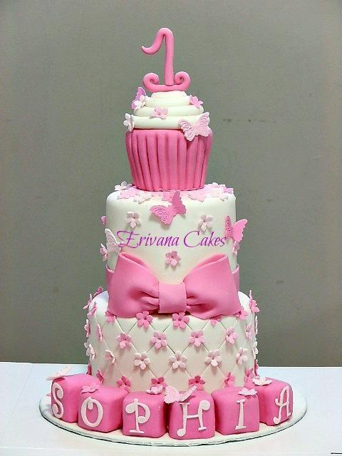 Pink Cupcake themed cake