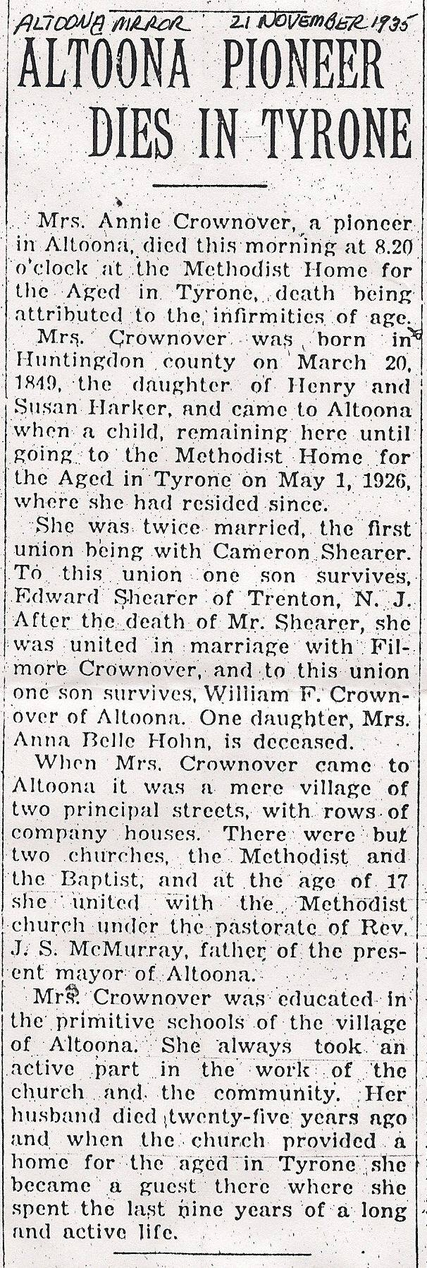 Crownover, Annie Harker 1935
