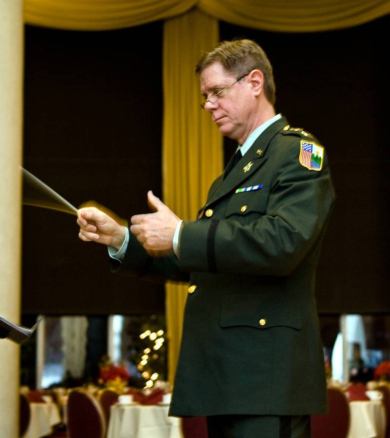 Captain Douglas Hedwig, Conducting 89th Army Band at West Point Military Academy