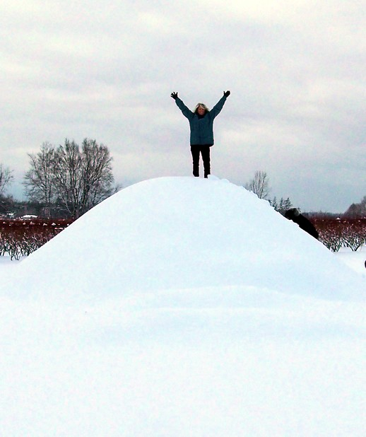 On Christmas Day - Nat's on top of the world!