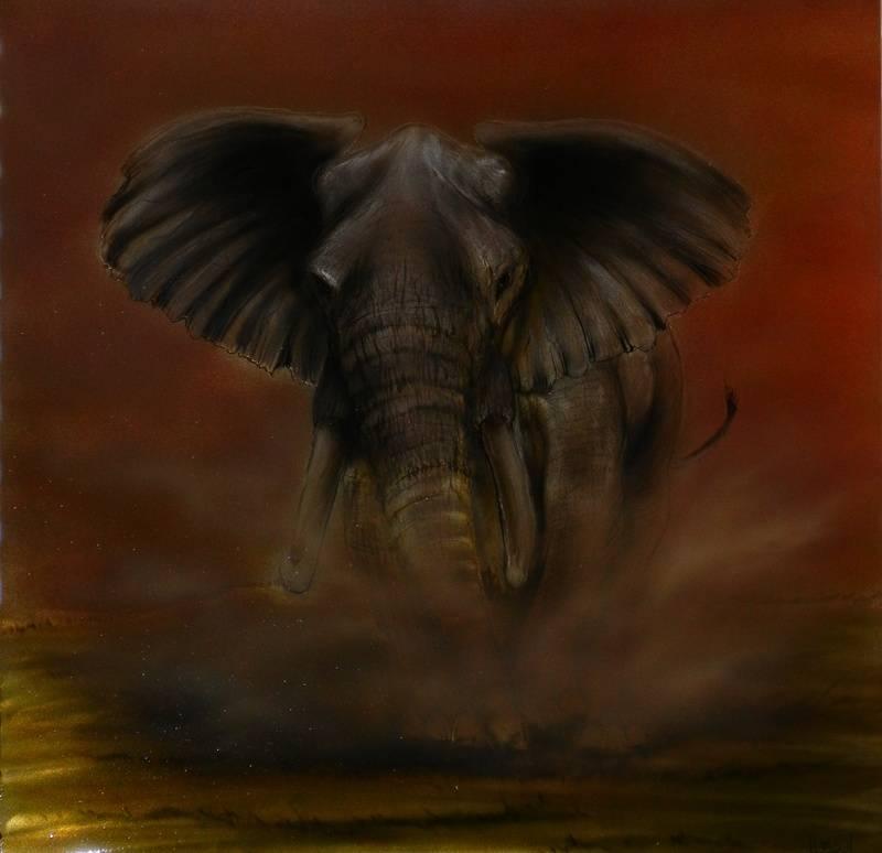 "3D ""A"" African Elephant"
