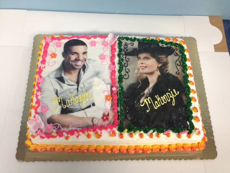 Drake and Rebecca Mader Cake
