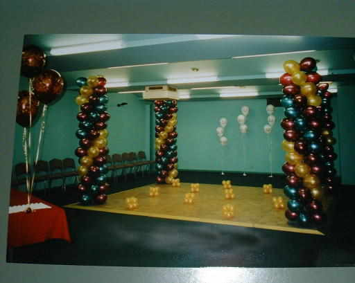 Dance Floor Balloon Pillars