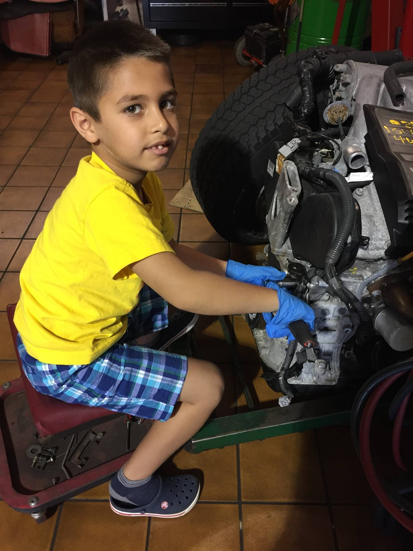 Our youngest future Technician