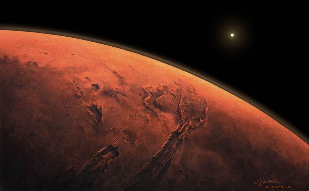 Valles Marineris Sunrise / 2013
