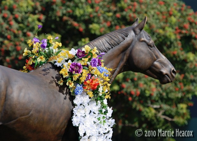 Seabiscuit with a Wreath