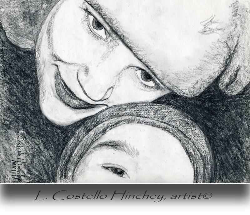 Tabitha & son- Charcoal