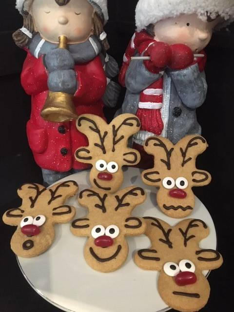 Cheeky Reindeer Biscuits
