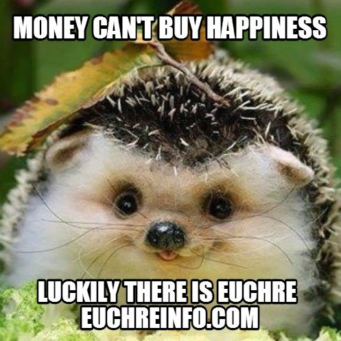 Money can't buy happiness...luckily there is Euchre.