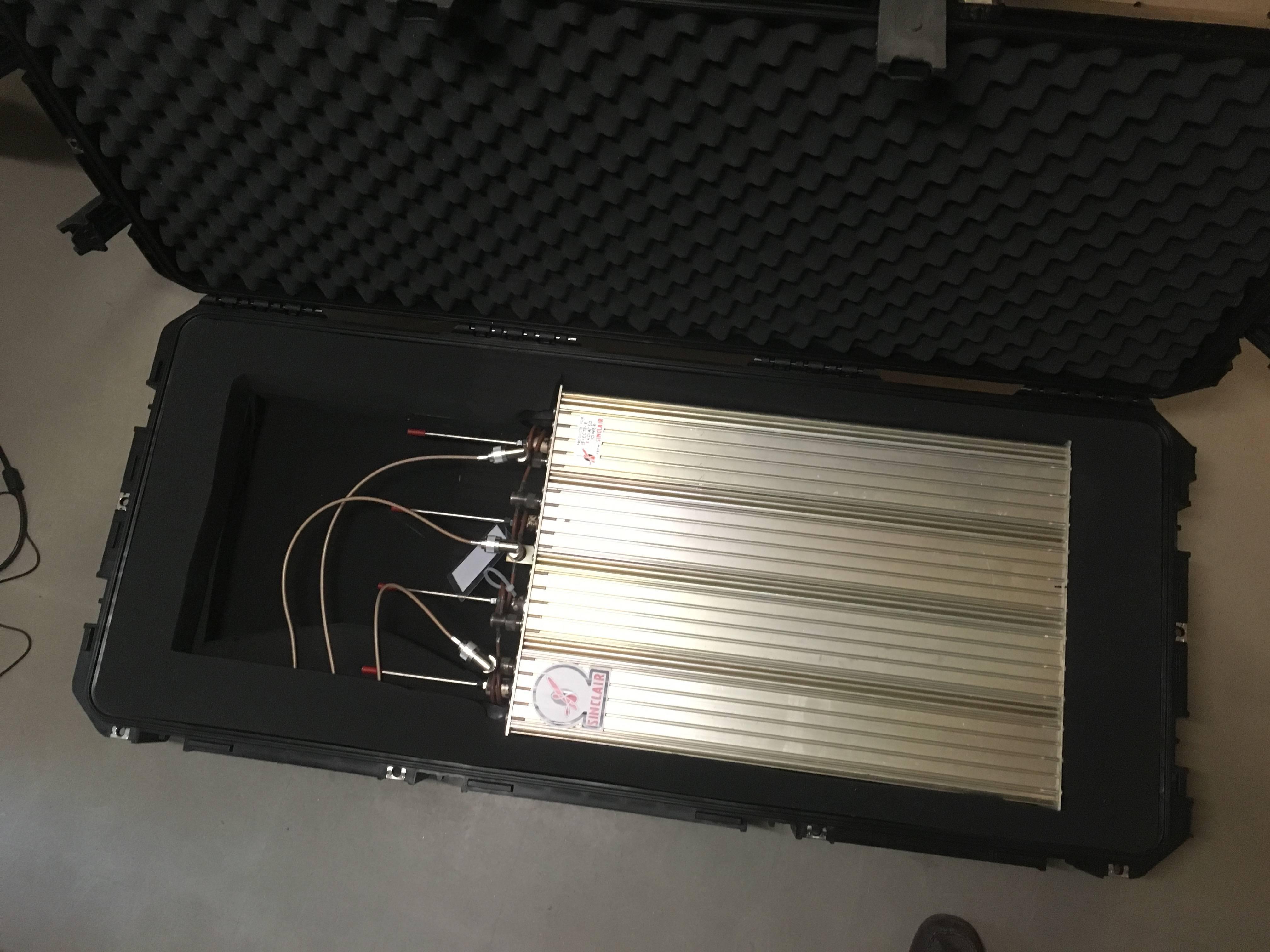 Portable duplexer - case cover open