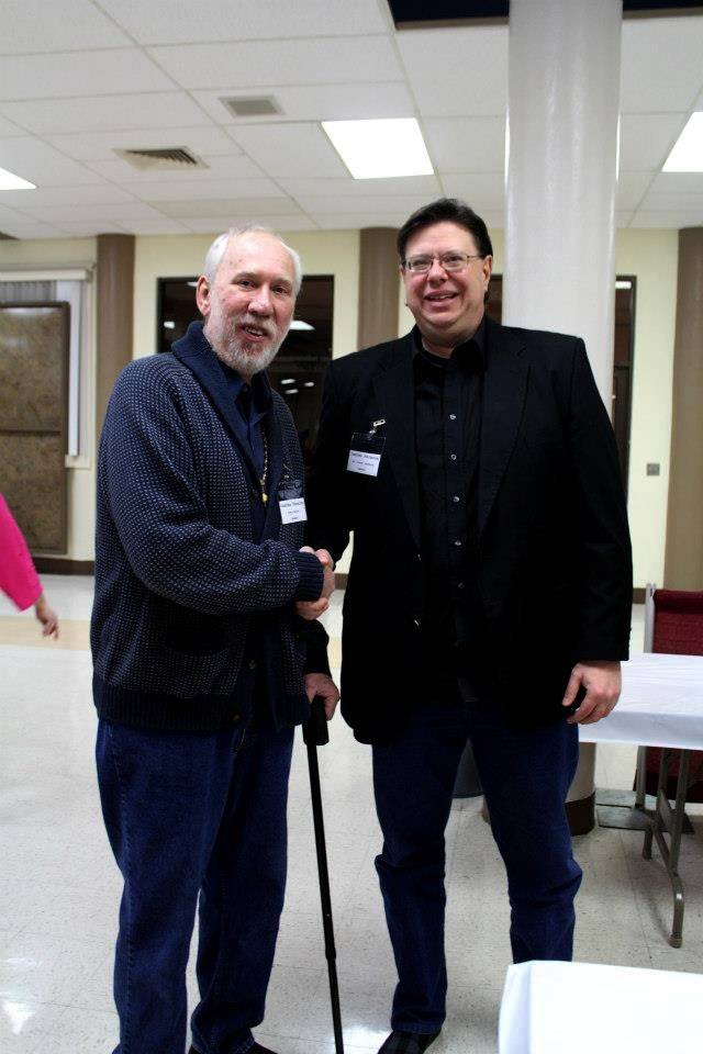With author Steven LaChance