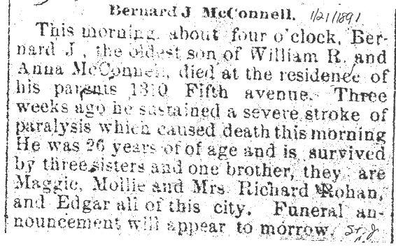 McConnell, Bernard J. 1891