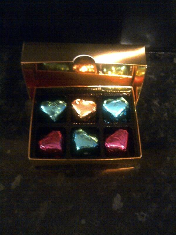 Box of 6 handmade chocolates with assorted Fondant Fillings