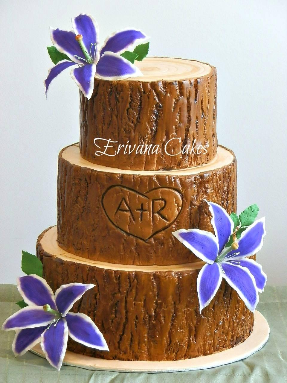 Tree Trunk Log wedding cake