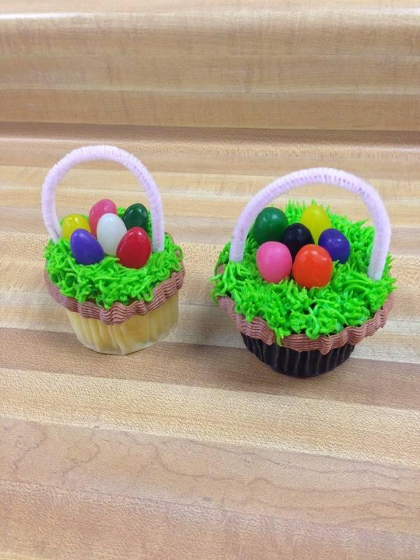 Jelly Bean Cupcake Baskets