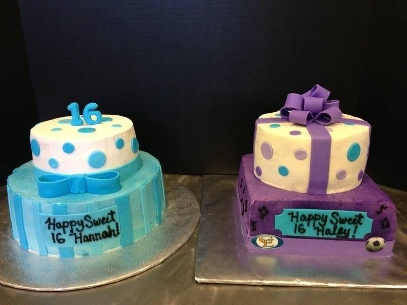 Dual Sweet 16 Cakes
