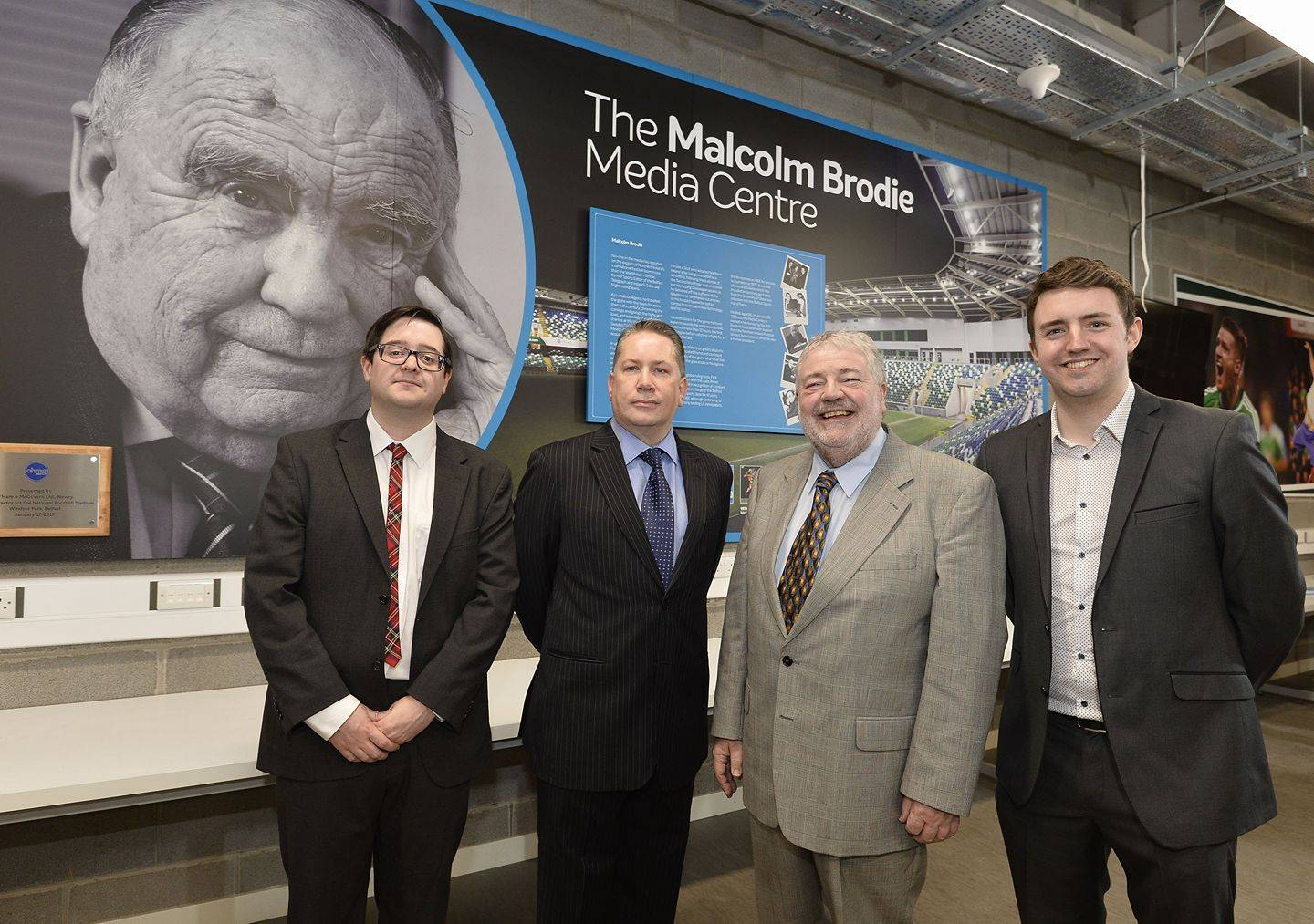 Attending the opening of the Dr Malcolm Brodie Media Centre
