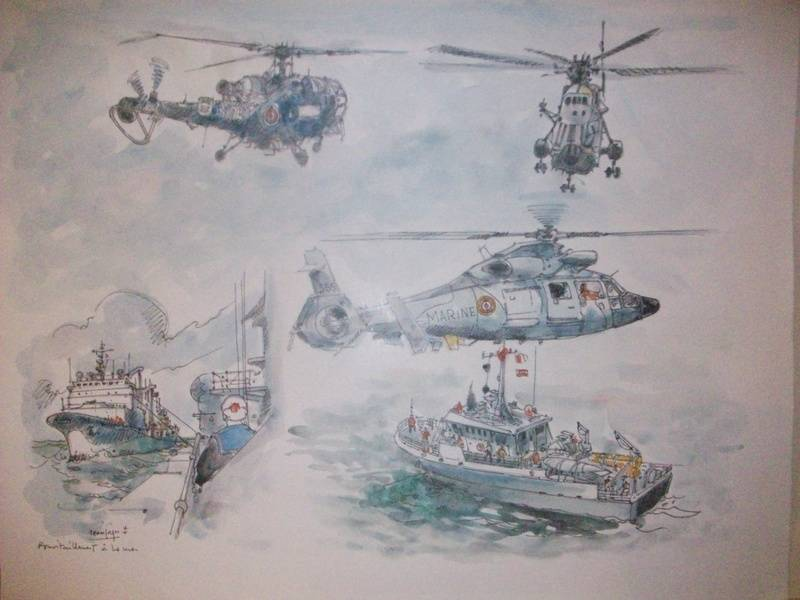 RAVITAILLEMENT en Mer