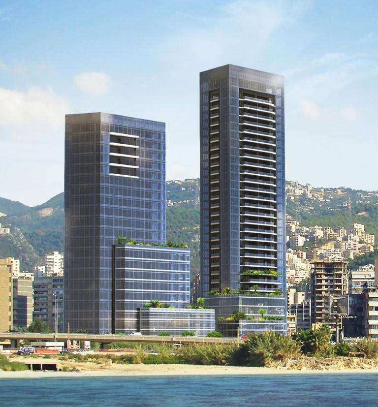 Crystal Towers - 75m & 100m Heights in Antelias - LEBANON