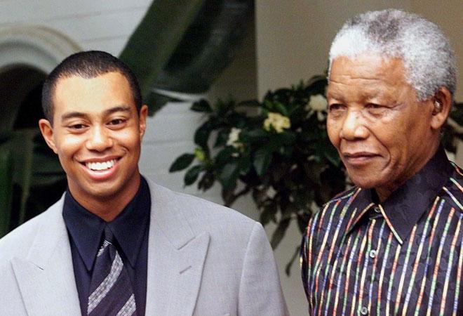 Mandela and Tiger Woods