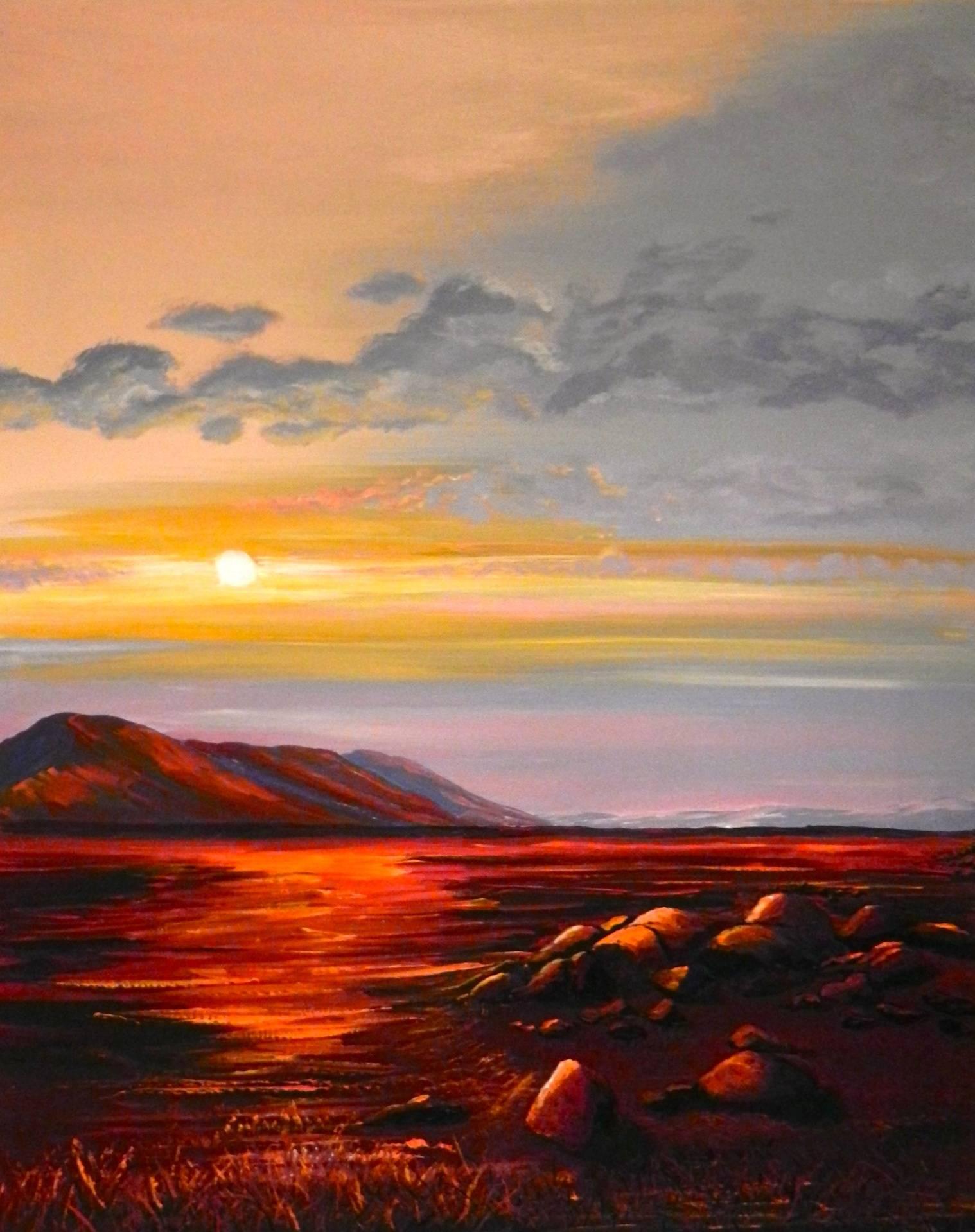 Sunset on the Monaro Plains