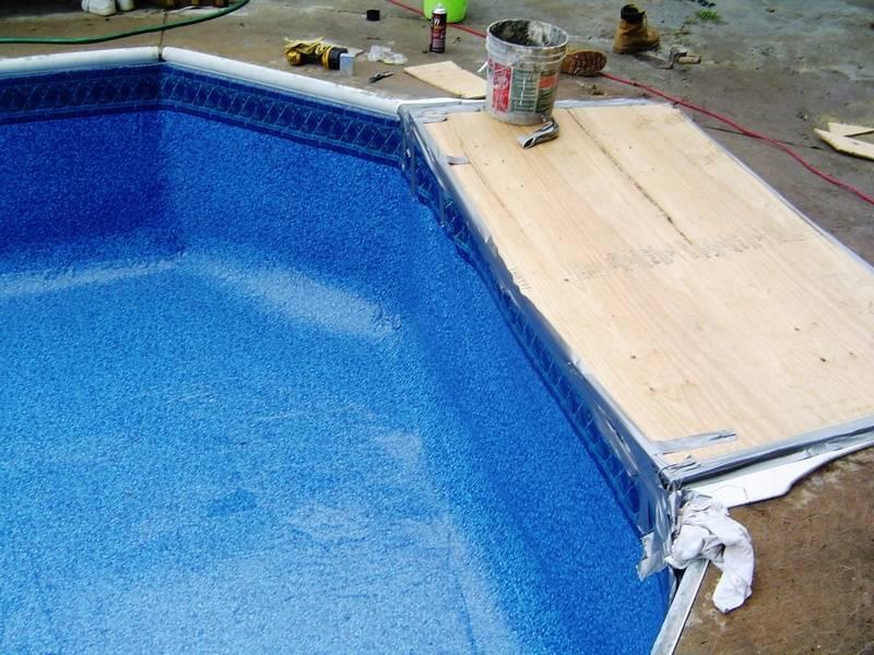 boxed in pool steps