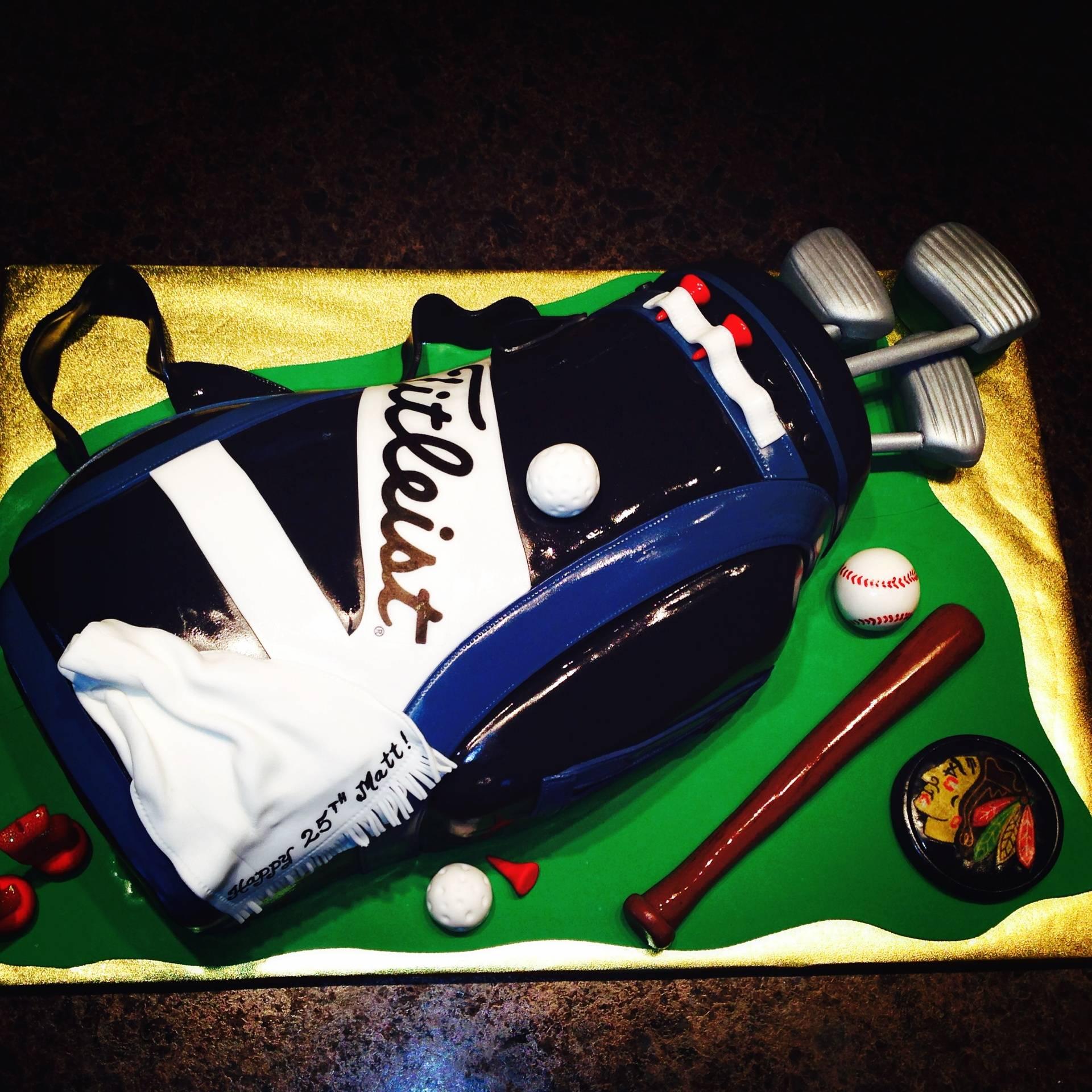 Golf Club Cake