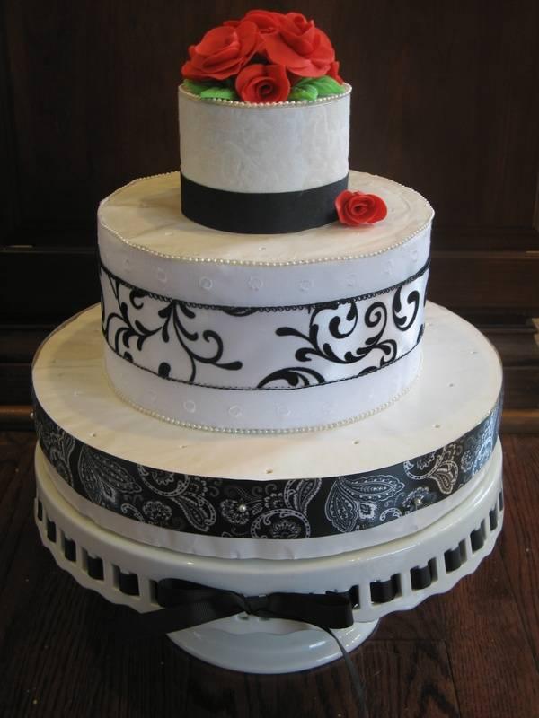 Black & White Cake Pop Stand