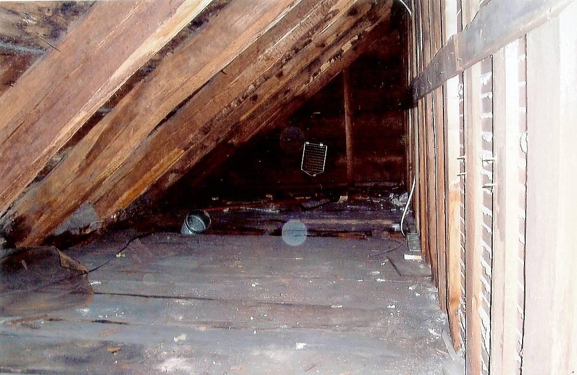 Interior of attic.