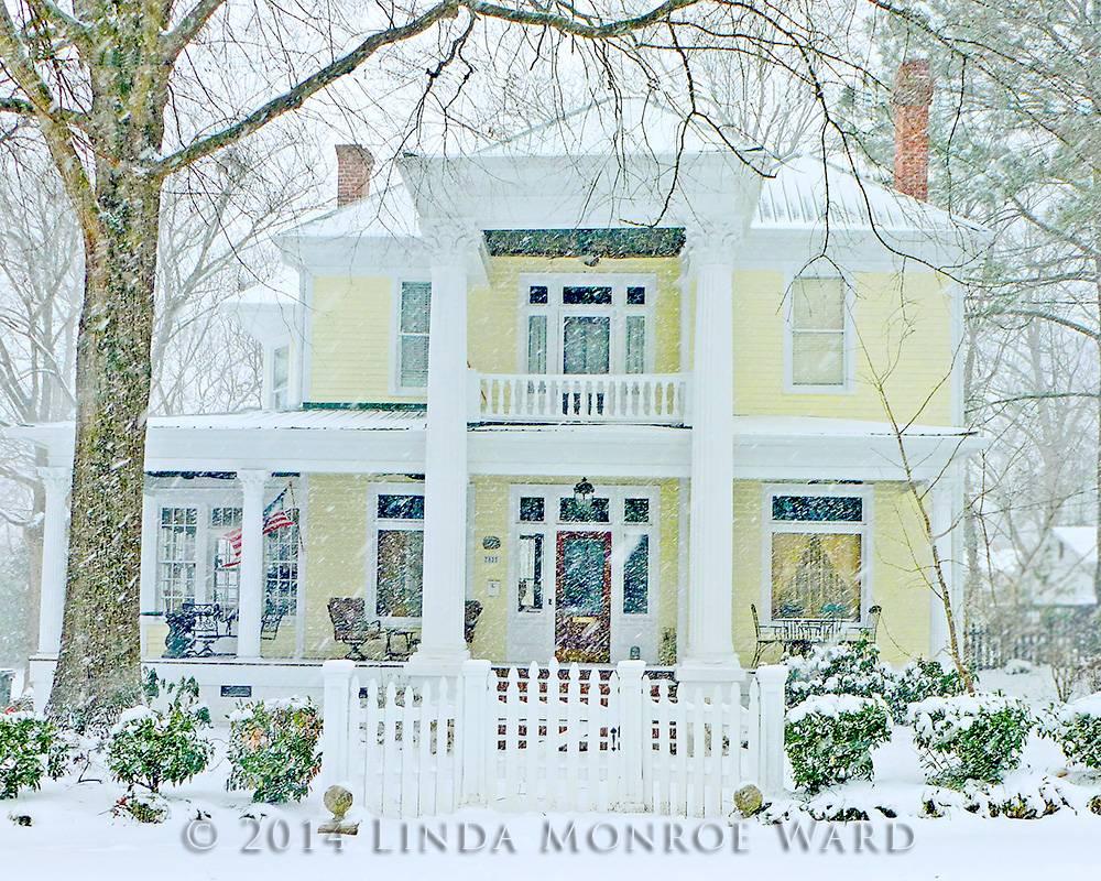 702 South Hayne, Snyder-Beasley Mansion in Winter