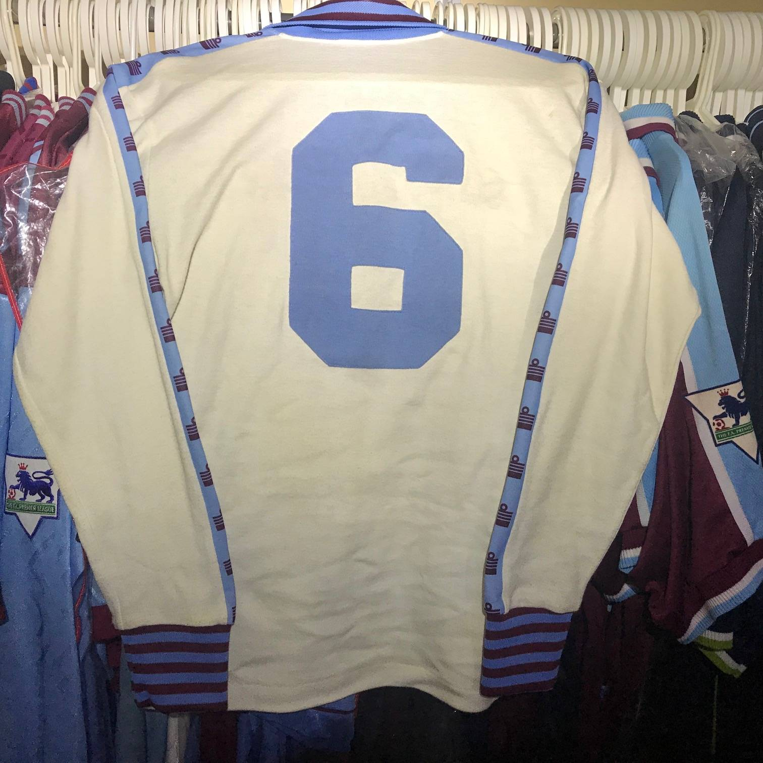 Alan Devonshire spare long sleeve 1980 FA Cup Final shirt