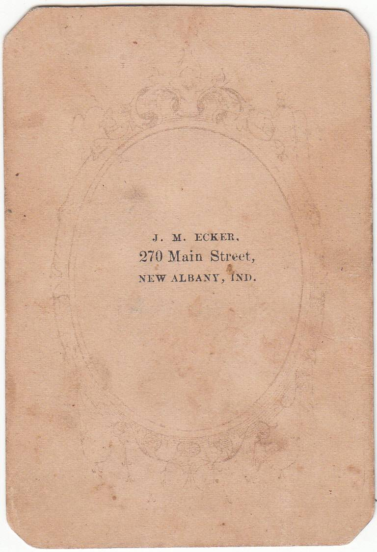 J. M. Ecker, photographer of New Albany, IN - back