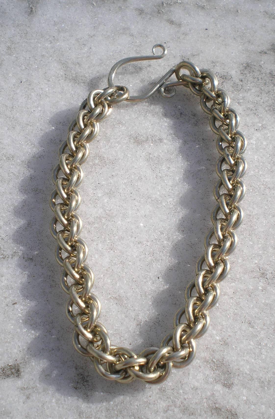 Nickel Silver Rope Chain Bracelet