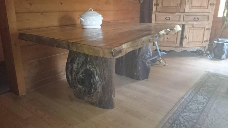 Douglas Fir  table natural edge